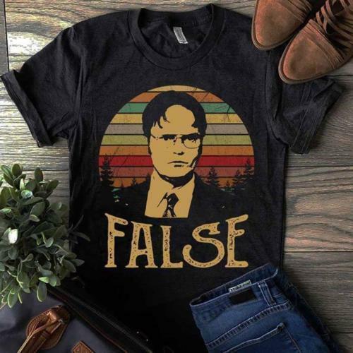 The Office Tv Series Dwight Schrute False Vintage Black Tshirt Men M 3Xl