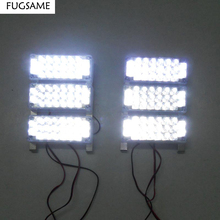 Car Truck 6x22 132LED Bright Flashing Blink Grill Lamp Strobe Lights 6*22 LED Red Blue White Green Amber Yellow