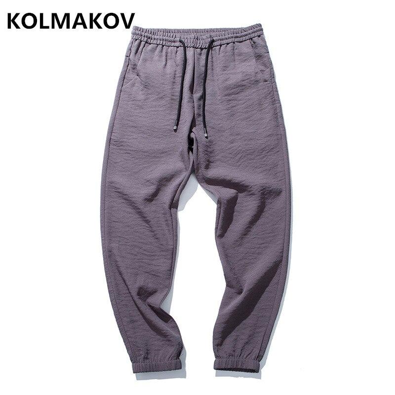 KOLMAKOV 2018 Men Gyms Pants Casual Linen Mens Fitness Workout Pants ,Sweatpants Trouser ...