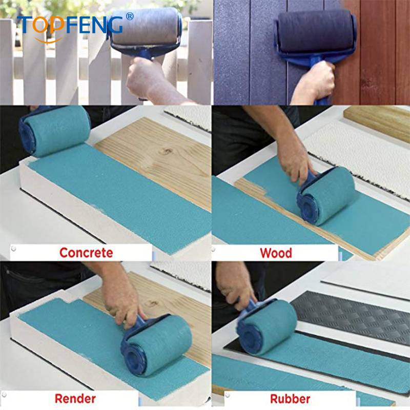 TopFeng 8PCS/Set Paint Runner Pro Roller Brush Handle Tool Flocked Edger Room Wall Painting Home Office Room Multifunction Rolle