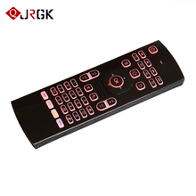 JRGK 7 Colors Backlight Air Mouse Wireless Keyboard mx3 Portable 2.4GHz For Smart Tv Box PC universal Remote Control IR Learning