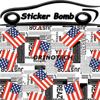 Car Styling American USA US Flag Sticker Bomb Vinyl Wrap Sticker Bombing Graffiti Vinyl Sticker For Car Motorcycle Wrapping