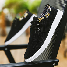 цена Canvas Men Shoes  Lace-Up Men Casual Shoes New 2019 Spring/Autumn Breathable Male Sneakers Zapatos Hombre  Loafers  Men онлайн в 2017 году