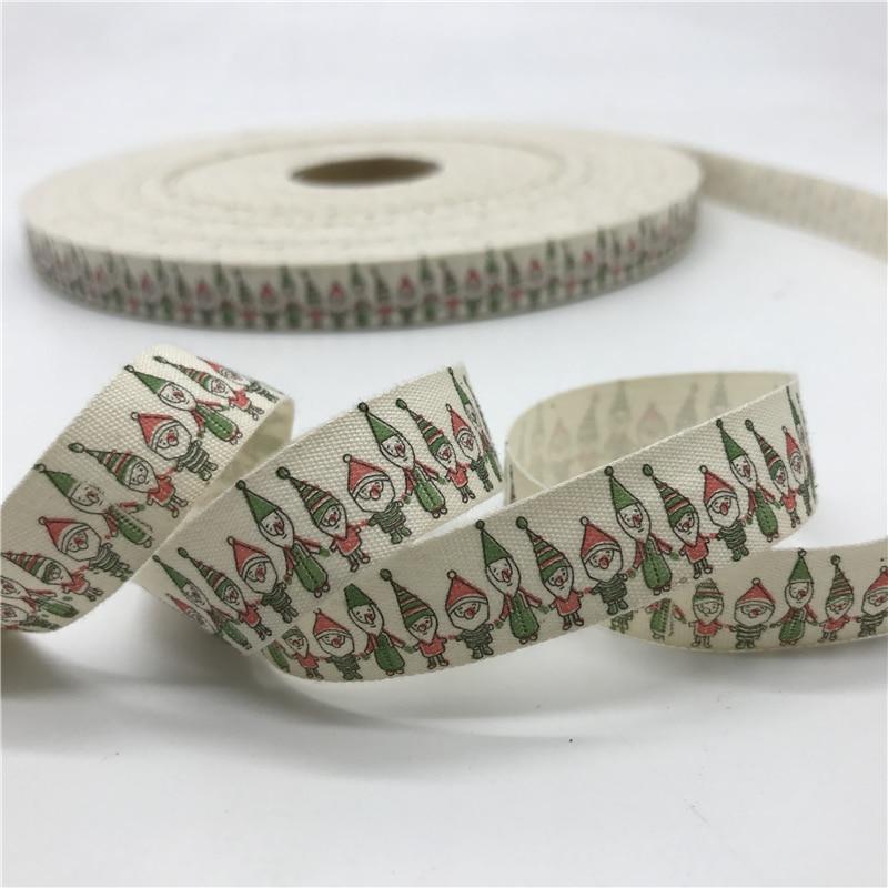5 ярдов/лот 15 мм хлопчатобумажная лента ручной работы дизайн печатные хлопковые ленты для свадьбы Рождественское украшение DIY швейная ткань - Цвет: 13