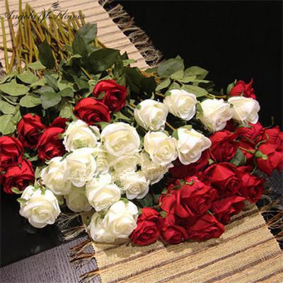 65cm Single Rose Artificial Flower Branch Bud Flower Shooting Prop DIY Wedding Furniture Home Garden Pwrty Hotel Decoration Road