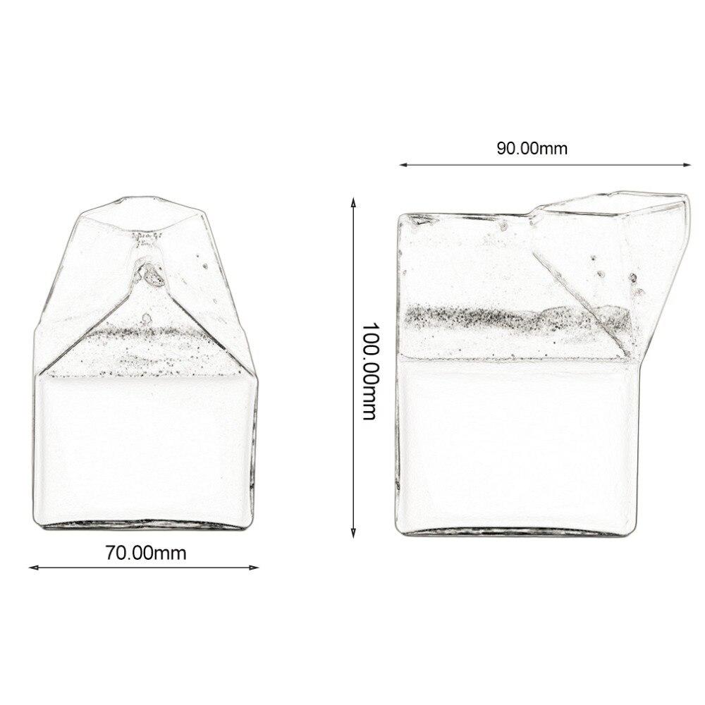 Glass juice cups design -  Creative American Half Pint Creamer Milk Carton Glass Cup Coffee Glass Juice Cup Unique Design Pure
