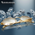Retro Golden Sunglasses Men Gold Glasses Frames Gold Frame Glasses Round Sunglasses Luxury Stainless Steel Sun Glasses Carter