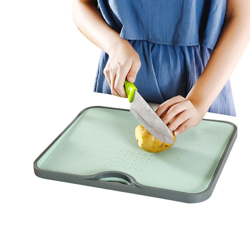 Eco Paglia di Grano Rettangolo Gourmet Tagliere Con La Rettifica di Aglio Strumento di Cottura Cucina Gadget Da Cucina Accessori