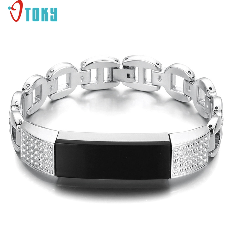 Excellent Quality Stainless Steel Watch Bands For Fitbit Alta HR Smart Watch Accessory Bands Luxury Buckle Wrist Watches Strap