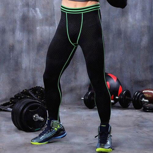 Mens Treino de Fitness Calças Leggings de Compressão Inferior MMA Crossfit  GYM Levantamento de Peso Correndo Calças de Pele Calças Musculação em  Execução ... fadc9447961e4
