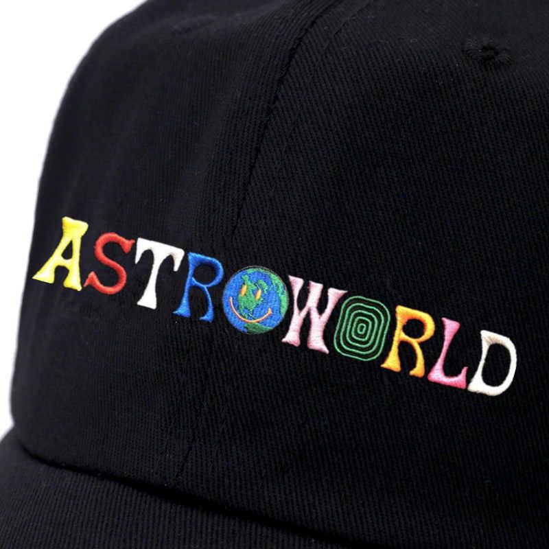 7977ec80 ... ASTROWORLD Dad Hat Travis Scotts Latest Album Astroworld Cap 100% Cotton  High Quality Embroidery Baseball ...