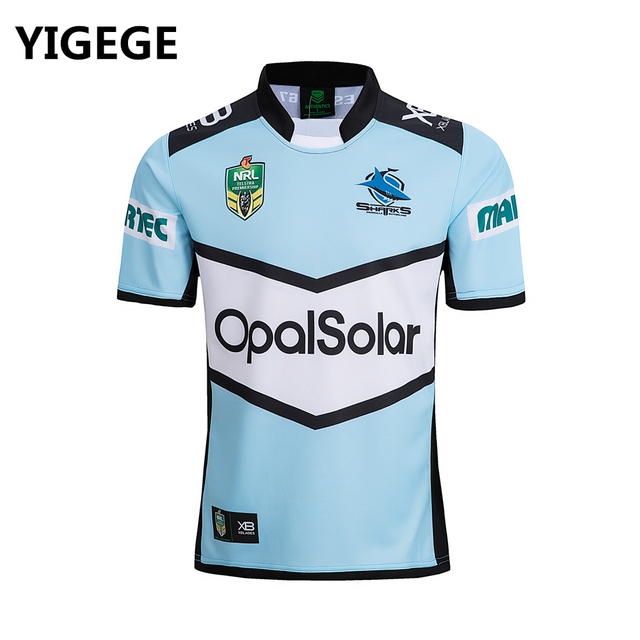 9ab7f98953d YIGEGE 2018 CRONULLA SHARKS rugby Jersey home Rugby League nrl Jersey  Australia shirt s-3xl