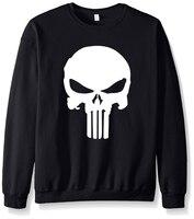 The Punisher Skull Streetwear Hip Hop Fleece Hot Sale 2017 Autumn Harajuku Brand Streetwear Hoodies Men