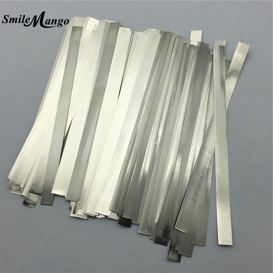 100pcs/lot 0.2mm x 6mm x 100mm Quality low resistance 99.96% pure nickel Strip Sheets for battery spot welding machine wheat breeding for rust resistance