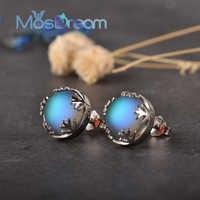 Moonlight Damen Mode Aurora Borealis Ohrringe s925 Silber Stud Elegante Schmuck Geburtstage Romatic Geschenk für Frauen