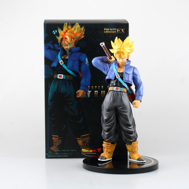 Huong Anime Dragon Ball Z 24CM Figuarts Zero EX Super Saiyan Trunks PVC Action Figure Collectible Model Toys Brinquedos. anime dragon ball figuarts zero super saiyan 3 gotenks pvc action figure collectible model toy 16cm kt1904