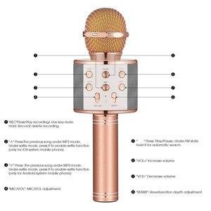 Image 3 - WS 858 Bluetooth Wireless Karaoke Handheld Microphone USB KTV Player Bluetooth Mic Speaker Record Music