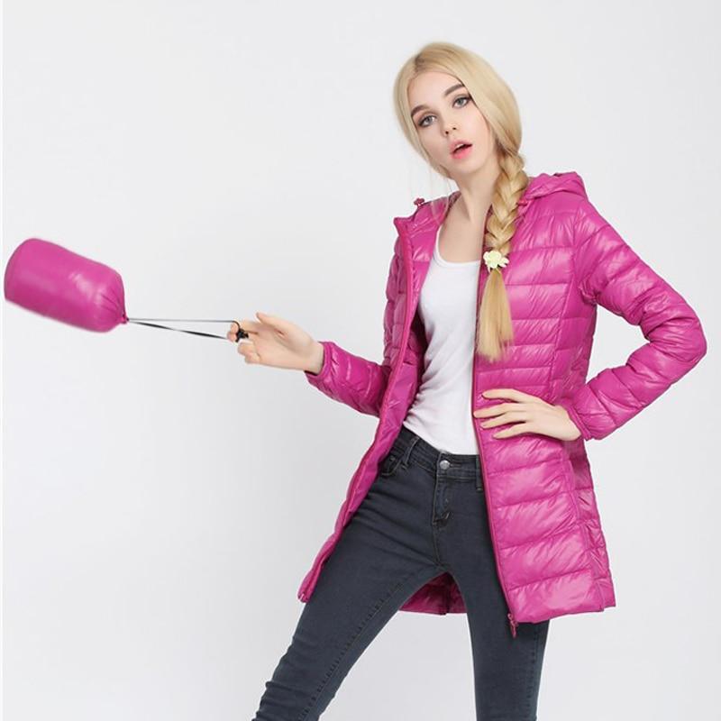 Зимняя женская куртка, новинка, тонкий пуховик с капюшоном, женский теплый пуховик, ультра легкие куртки, портативная парка на утином пуху, 6XL