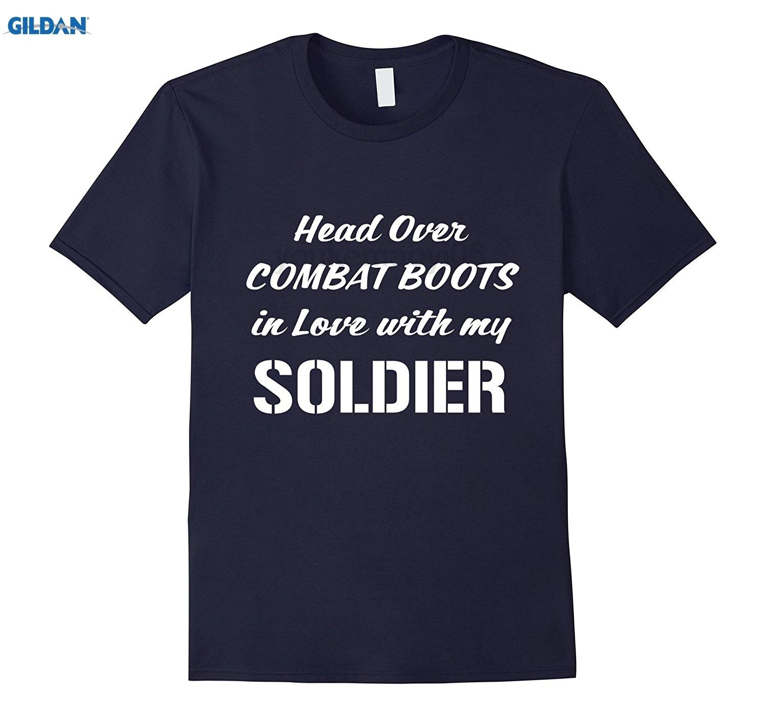 GILDAN Head Over Combat Boots in Love with my Soldier T-Shirt