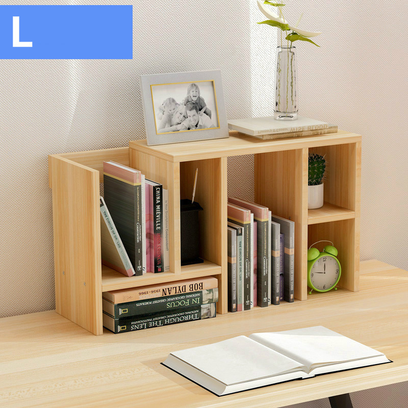 Fashion Retractable Desktop Bookcase Simple Rack Small