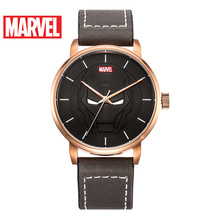 Disney Marvel the Avengers Iron Men Leather Strap Quartz Watch Top Brand Watches Man Steel Waterproof Sport Waches Orologio 9005