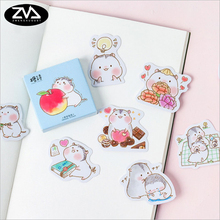 45 Pcs/box cute Hamster babies Mini Paper Decoration DIY Scrapbook Notebook Album Sticker Stationery Kawaii Girl Stickers