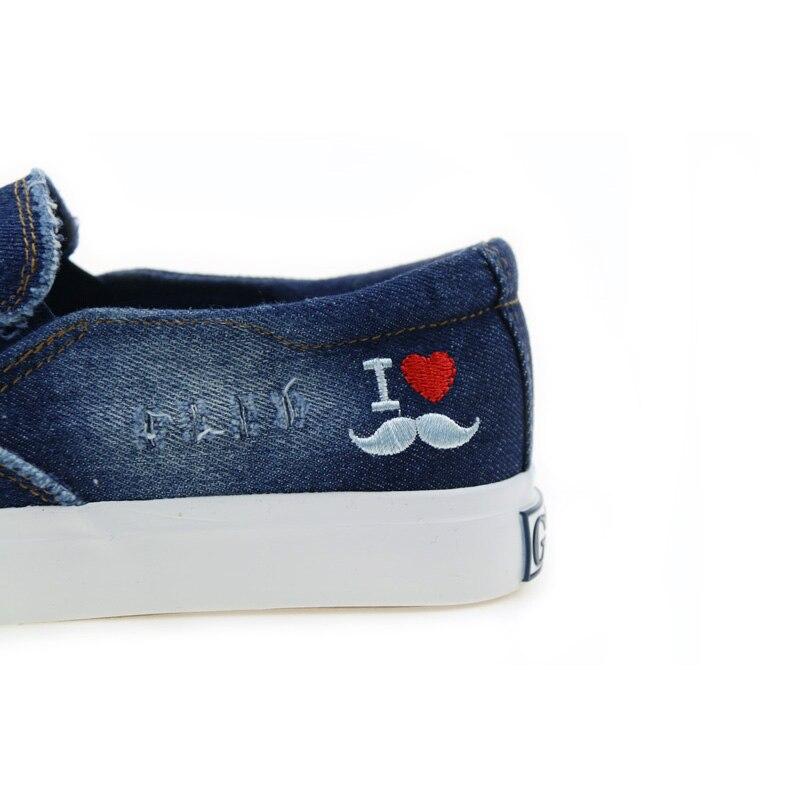 Casuales Denim Cómoda Mocasines Blue Slipony Gogc Zapatos 2019 Mujer Moda Nuevos blue Dark Tendencia Lona Casual De YU7z4