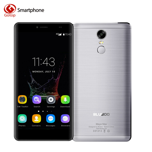 Original Bluboo Maya Max Smartphone 6.0 Inch Android 6.0 MT6750 Octa Core Mobile Phone 3GB RAM 32GB ROM 4200mAH 4G Cell Phone