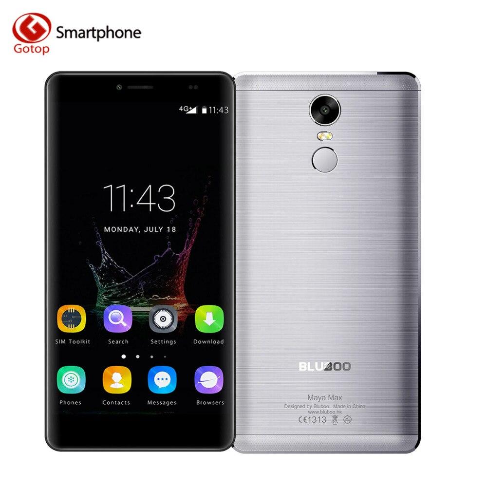 Original Bluboo Maya Max Smartphone 6.0 Inch Android 6.0 MT6750 Octa Core Mobile Phone 3GB RAM 32GB ROM 4200mAH 4G Cell Phone