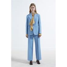 Lake Blue  Professional Business Work Wear Elegant Pants Suits For Office Ladies Autumn Winter Female Office Uniform Custom Made