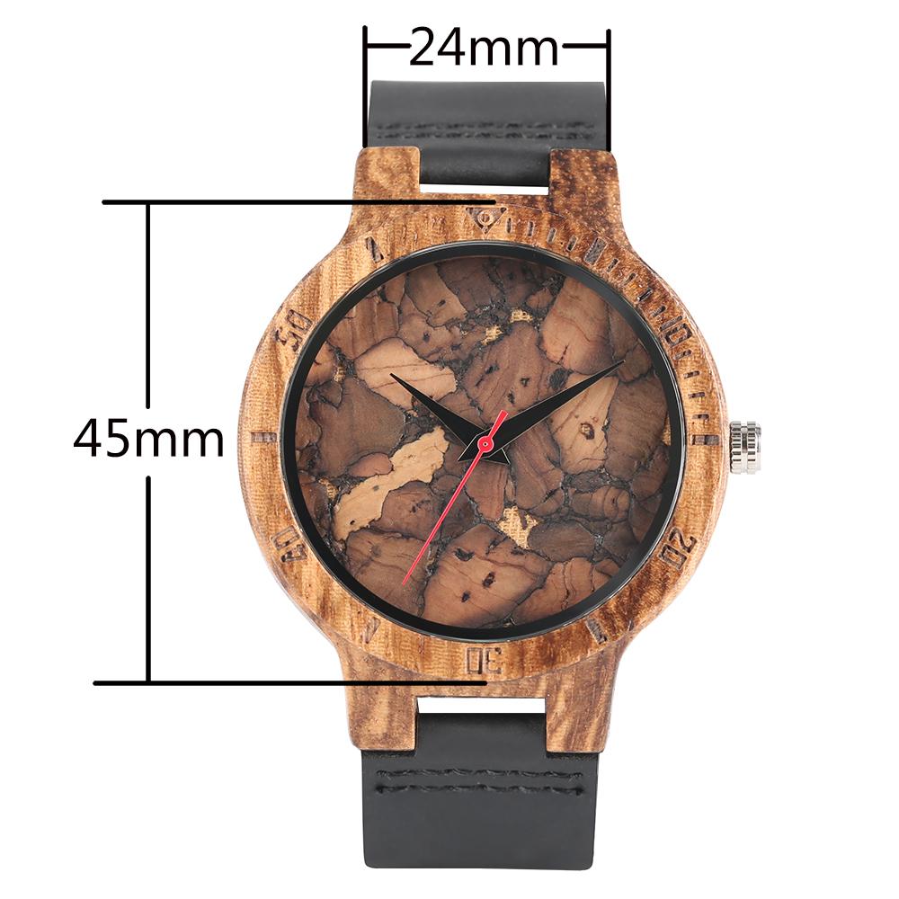 08734379145 Relogio Wood Watches Timepiece Stone Line Design Men Top Brand Wrist ...
