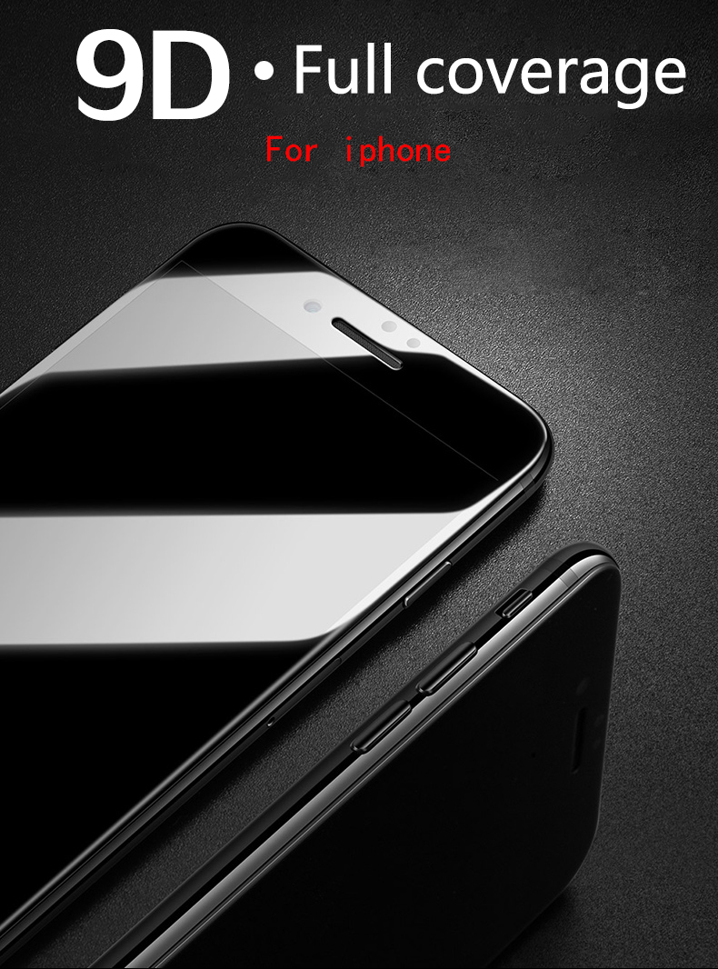 9D protective glass for iPhone 6 6S 7 8 plus X glass on iphone 7 6 8 X R XS MAX screen protector iPhone 7 6 screen protection XR 1