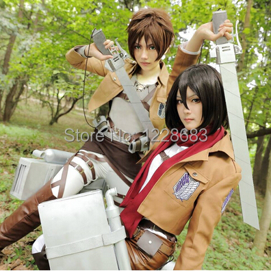 Shingeki No Kyojin Cosplay Scouting Legion Cosplay Costume Coat Attack on Titan Jacket Free Shipping