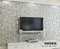 Gray Mosaic Lattice Wall Paper Home Decor Europe Embossed 3d wall murals Modern Non Woven Living room TV Background Wallpaper