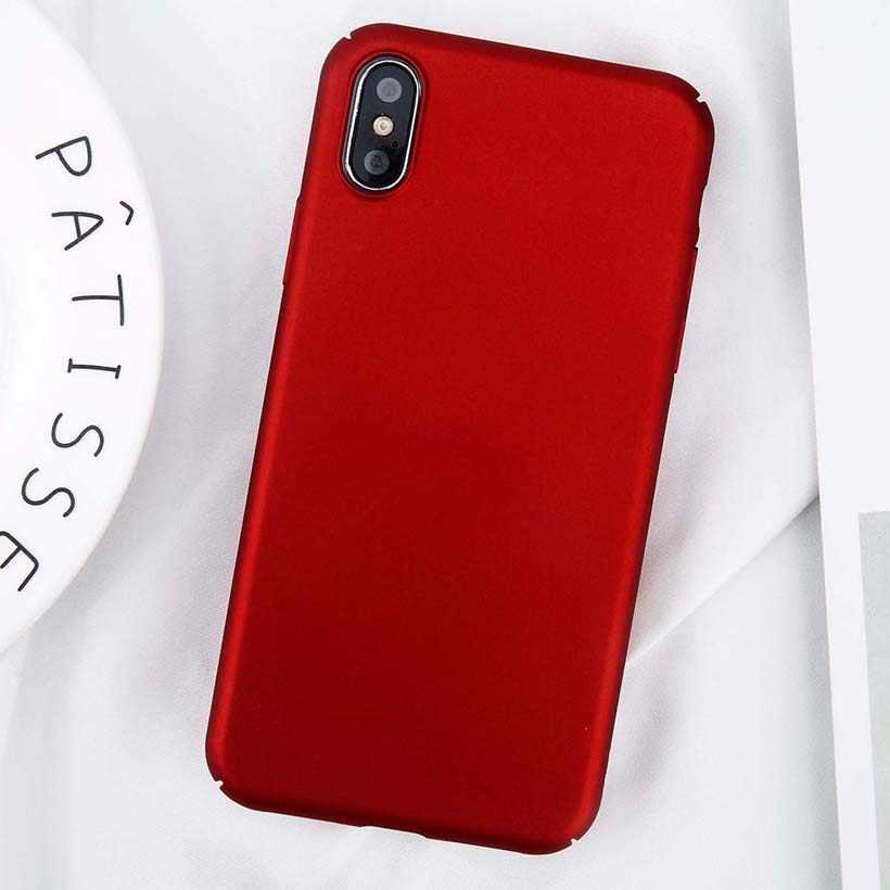 USLION Für iPhone 11 Pro Max X Xs Max XR 8 7 Plain Telefon Fall Bereifte Harte PC Zurück Abdeckung für iPhone 8 7 6 6S Plus 5 5S SE Fällen