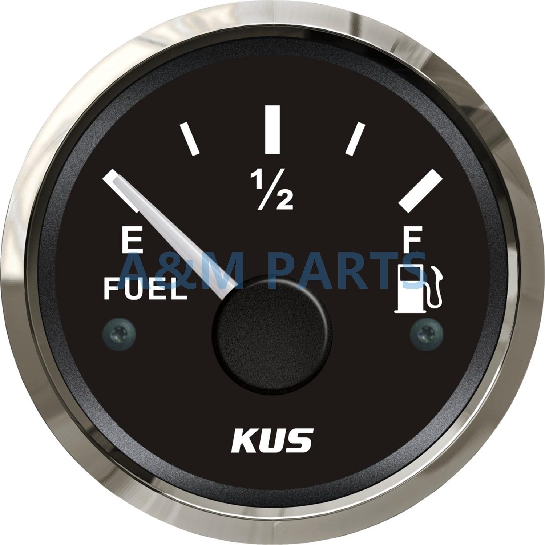 KUS Marine Fuel Gauge Boat Truck Oil Tank Level Indicator 12/24V 52mm 0-190ohms датчик kus 12v 24v