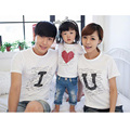 2016 New Fashion Mommy And Me Clothes Cute Family Look Tshirt Father Mother Daughter Matching Clothes