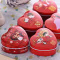 diamond embroideryBridal Wedding Wedding box box tin wedding candy box shaped trumpet personality tinplate