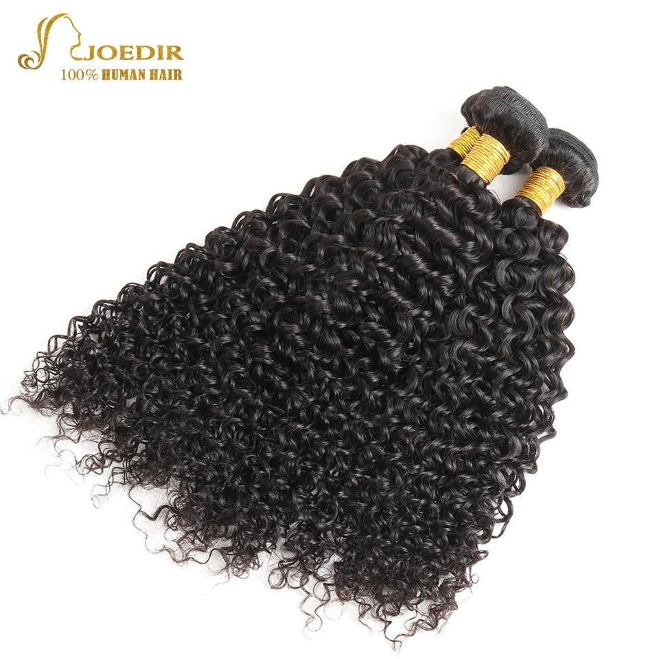 Joedir Indian Kinky Curly 3 Bundles 100% Human Hair Indian Non Remy Hair Weave 3 Bundles Curly Weave For Beauty