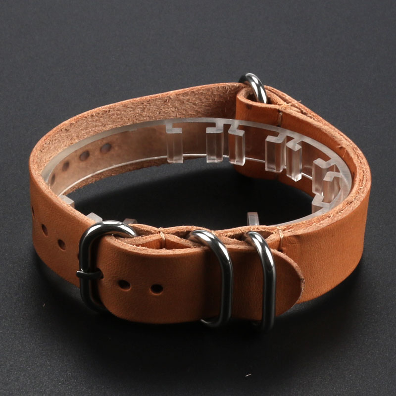 18mm/20mm/22mm Khaki Durable Genuine Leather Deployant Watch Band Strap Buckle Bracelet Watchbands Wholesale watch band strap butterfly pattern genuine leather deployant buckle bracelet brown black watchbands 18 24mm