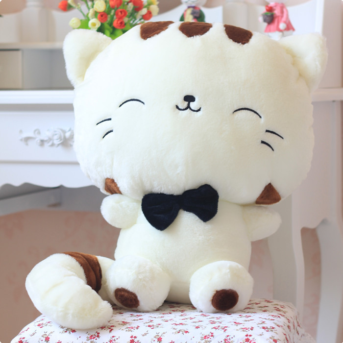 Plush Toy Long Tail Big Face Cute Cat Stuffed Soft Animal Toys Baby Doll