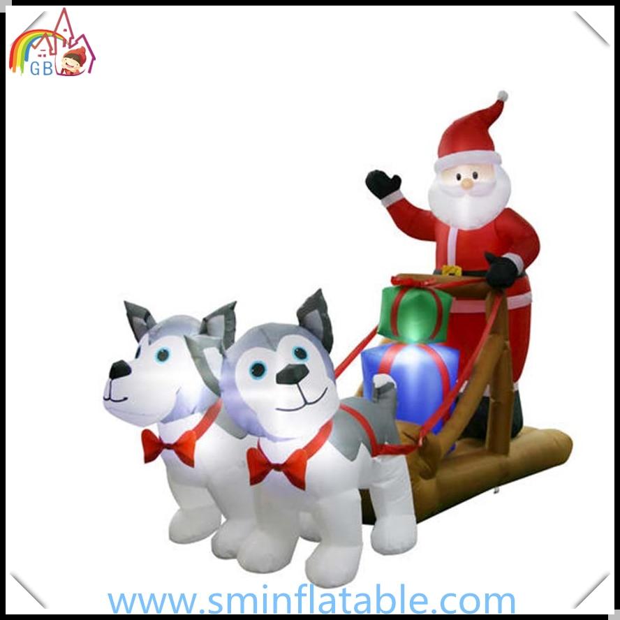 Kerst lucht geblazen opblaasbare kerstman sleigh, led verlichte ...
