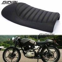 Black Vintage Hump Seat Cafe Racer Saddle CG GN CB200 CB350 CB400SS CB500 CB750 SR400 SR500 XJ XS Motorcycle Retro Seat