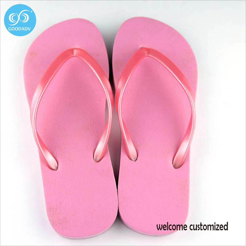 037bf30b8279 2017 New Summer House Shoes Bathroom Shower Pool Slippers Pink Girl Flip  Flops Welcome customized Flat Shoes-in Slippers from Shoes on  Aliexpress.com ...
