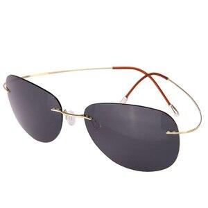 Image 5 - Bright 2019 Bestseller Ultra light Rimless Titanium Polarized Sunglasses Men Women Driving Brand Sun Glasses Shade Oculos De Sol