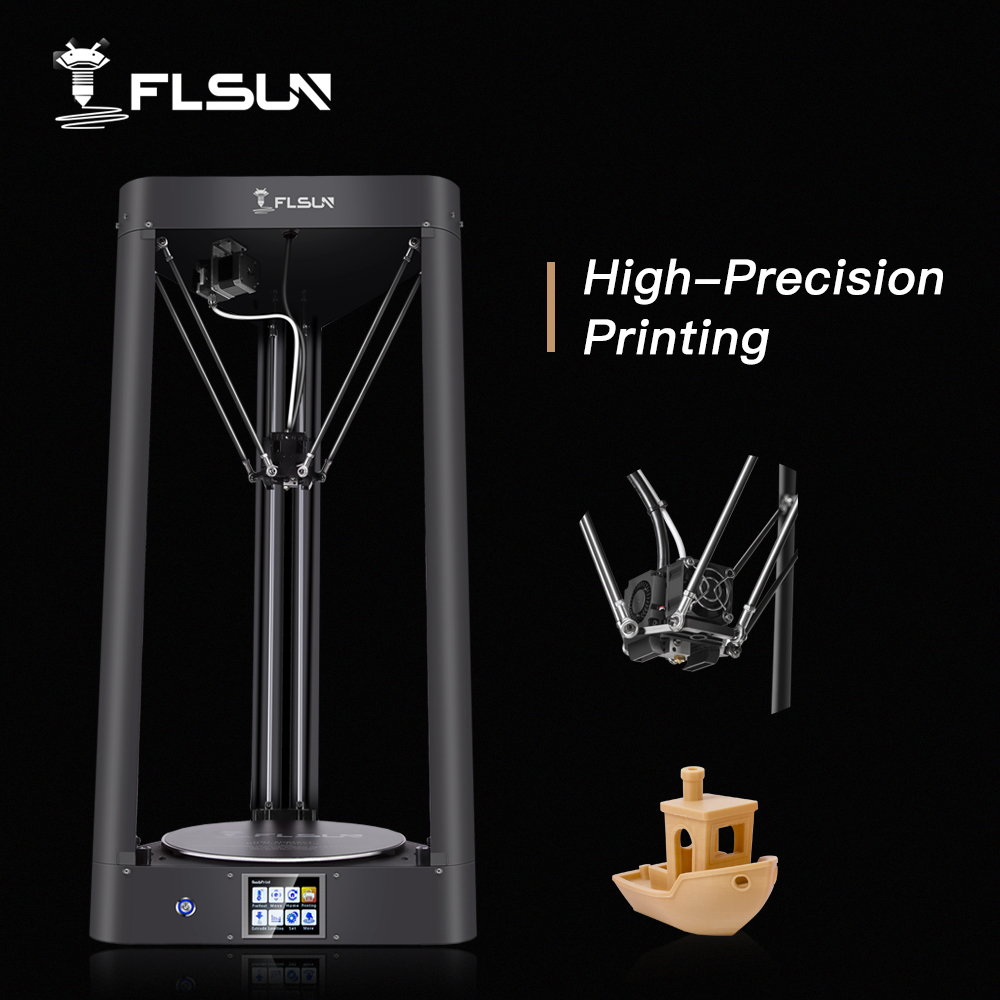 2019 Impressora 3D Flsun QQ-S Auto Nivelamento de Pré-montagem Titan Toque Wifi Tela Treliça HeatBed 32 bits boad Navio a partir de Genmany