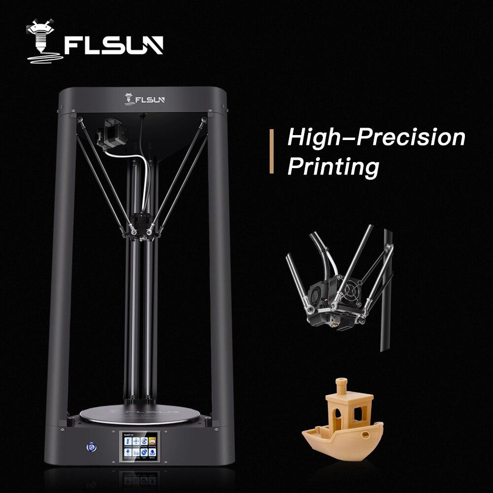 2019 impressora 3d flsun QQ-S nivelamento automático pré-montagem titan tela de toque malha heatbed 32bitsboad navio dos estados unidos