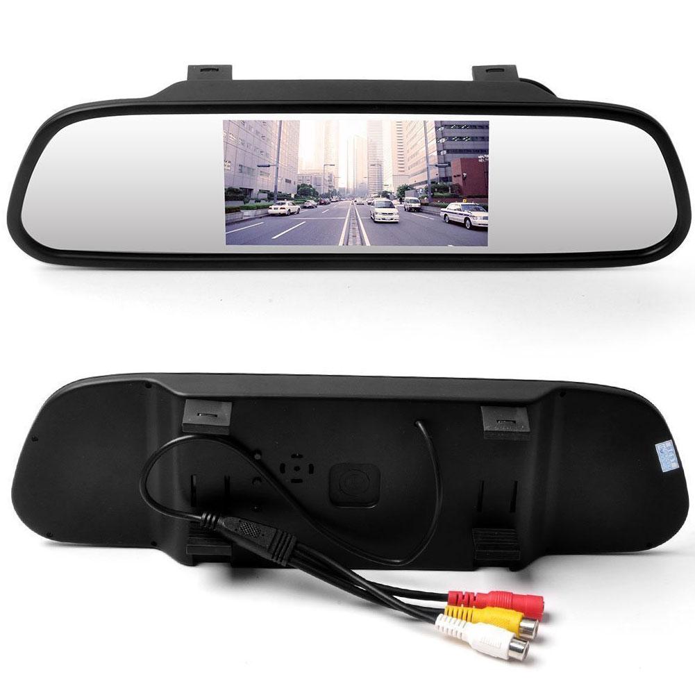 Зеркальное отображение 16:9 монитор вид сзади автомобиля для автомобиля цветной экран авто двойной RCA TFT 4.3 0,36-дюймовых 5 '' жк-видео входы