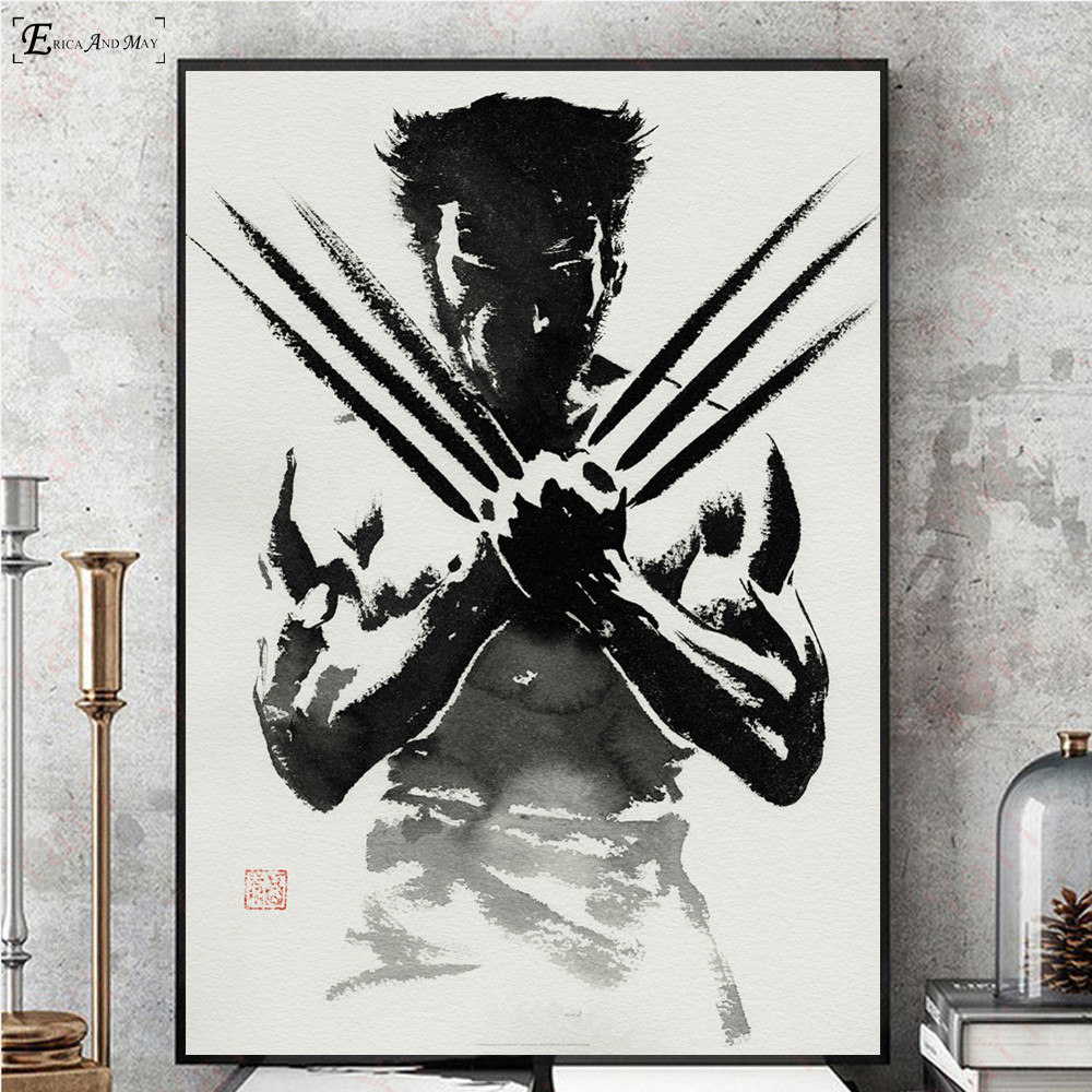 Wolverine Black And White Comic Wall Art Canvas Painting Poster For Home Decor Posters And Prints Unframed Decorative Pictures