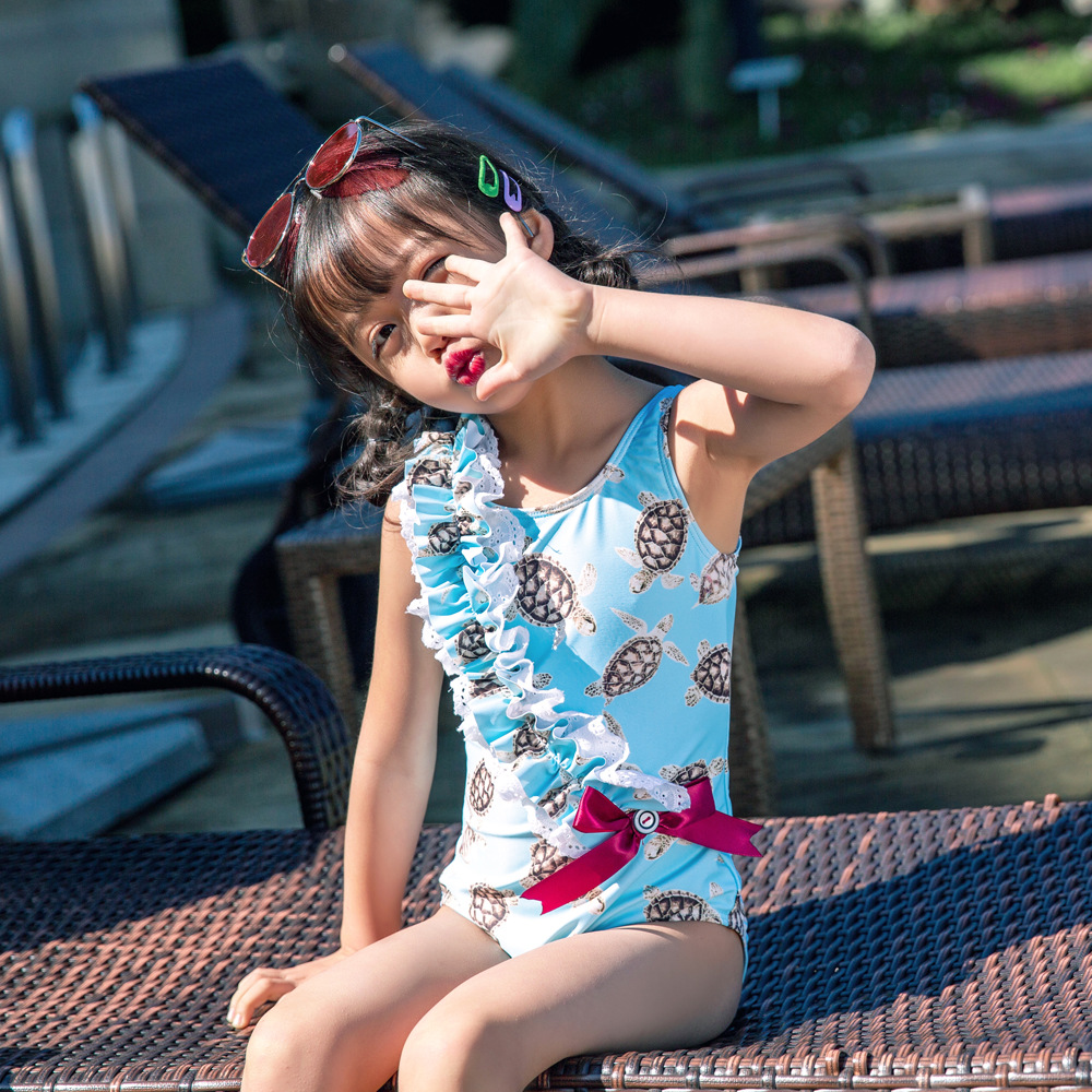 wildwalk One Piece Summer Baby Girl Bathing Suit Bowknot Dress Swimwear